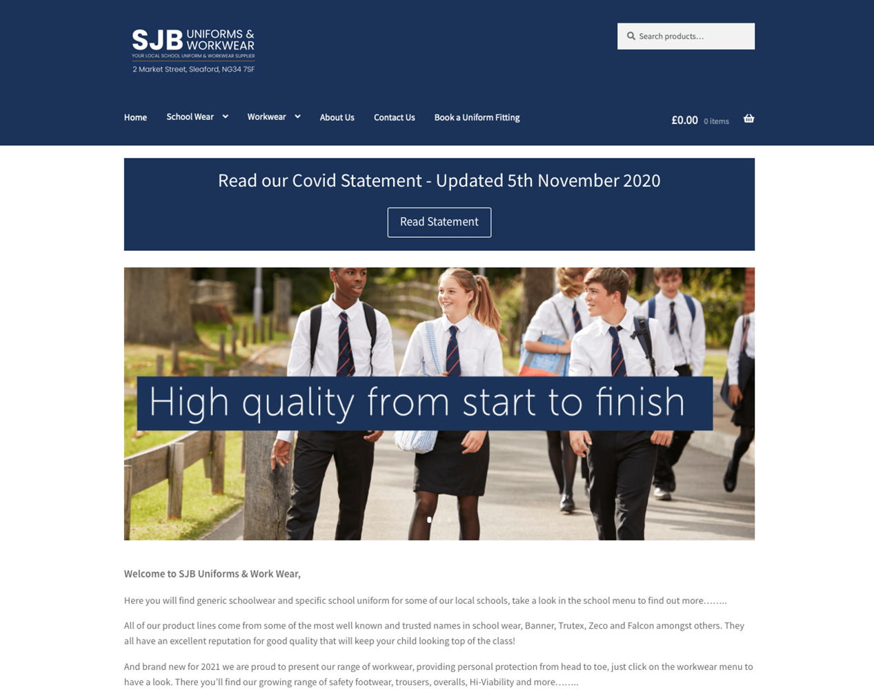 SJB Uniforms Website