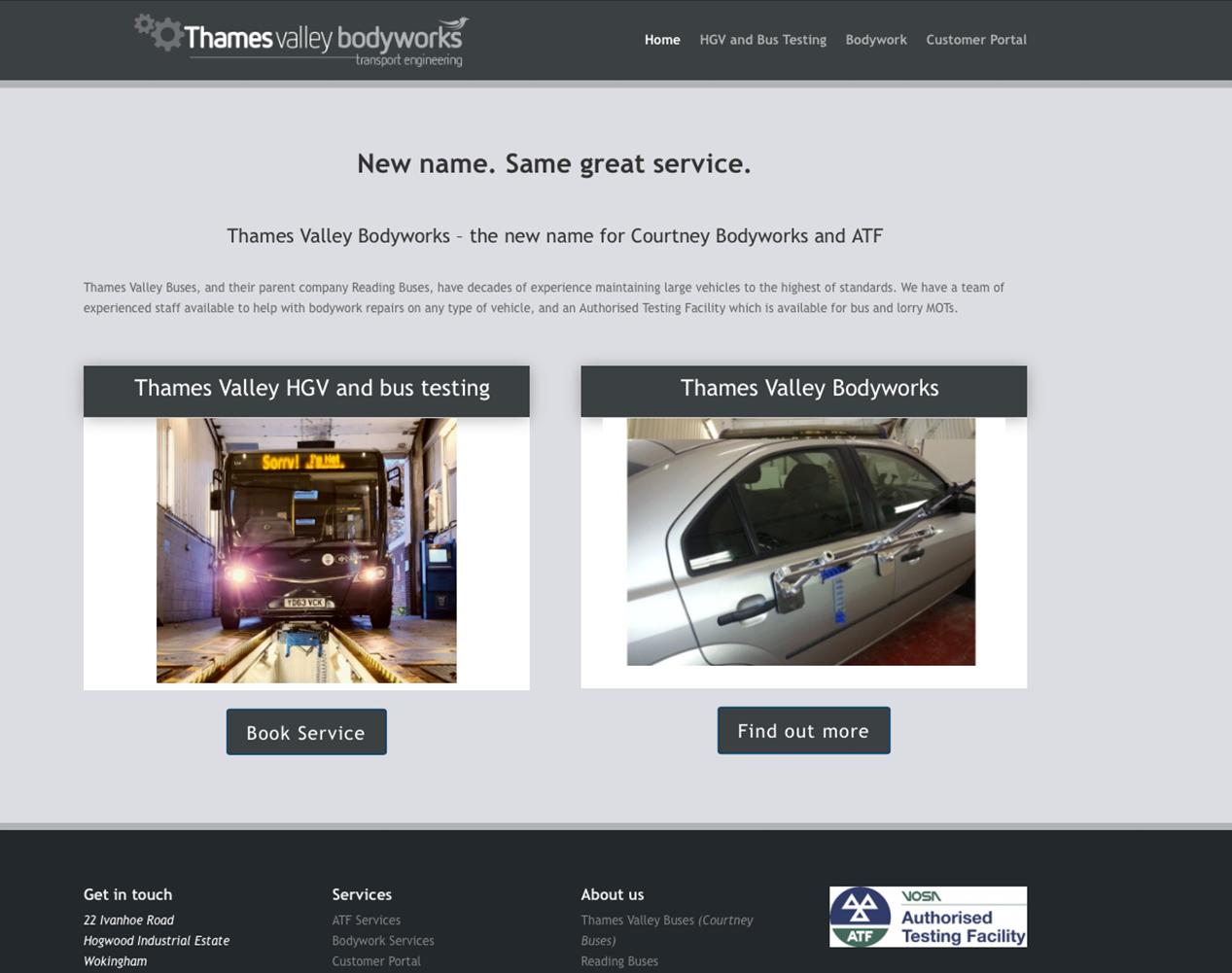 Thames Valley ATF and Bodyworks full website image